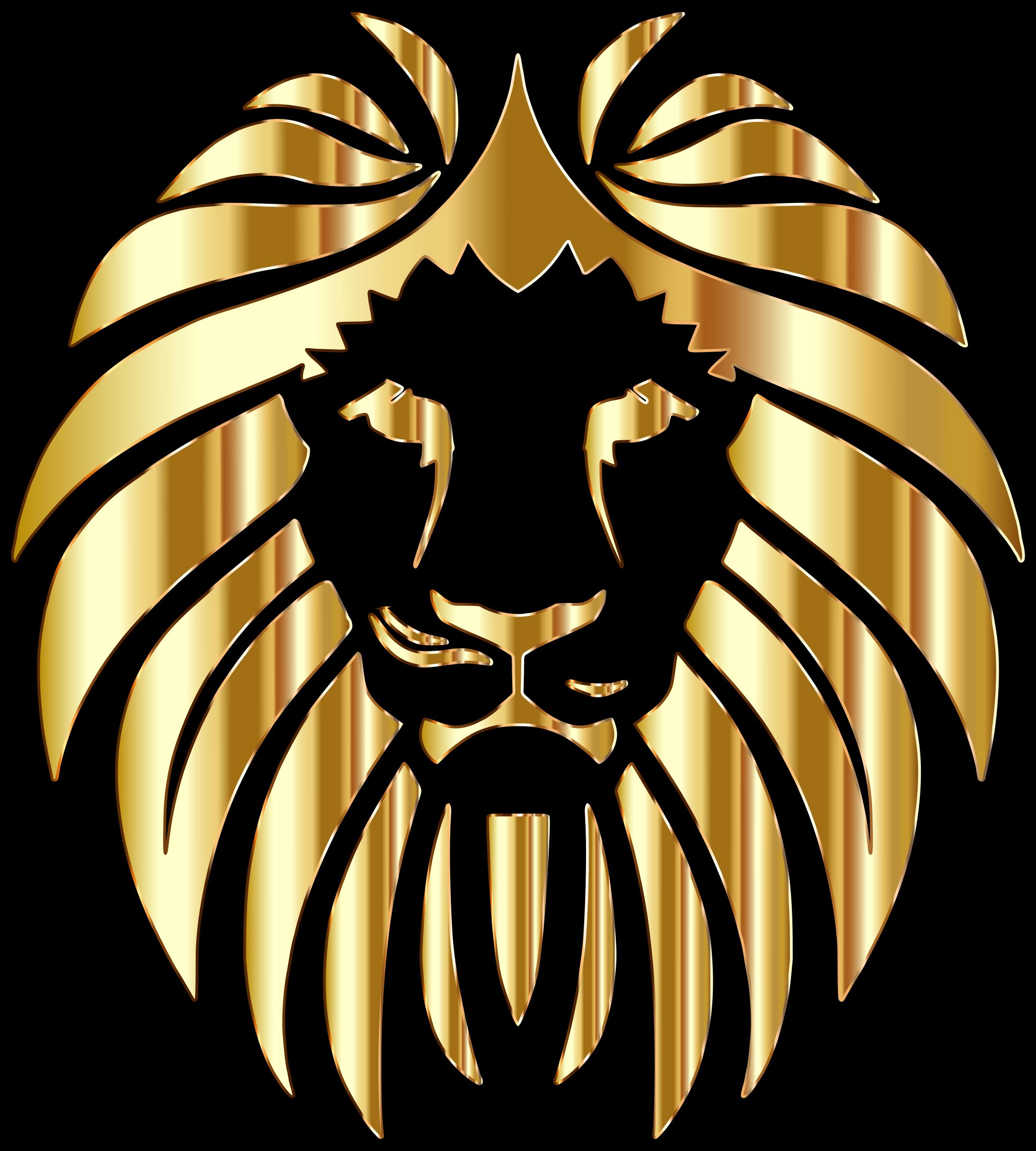 Variation zodiac signs . Lions clipart golden lion