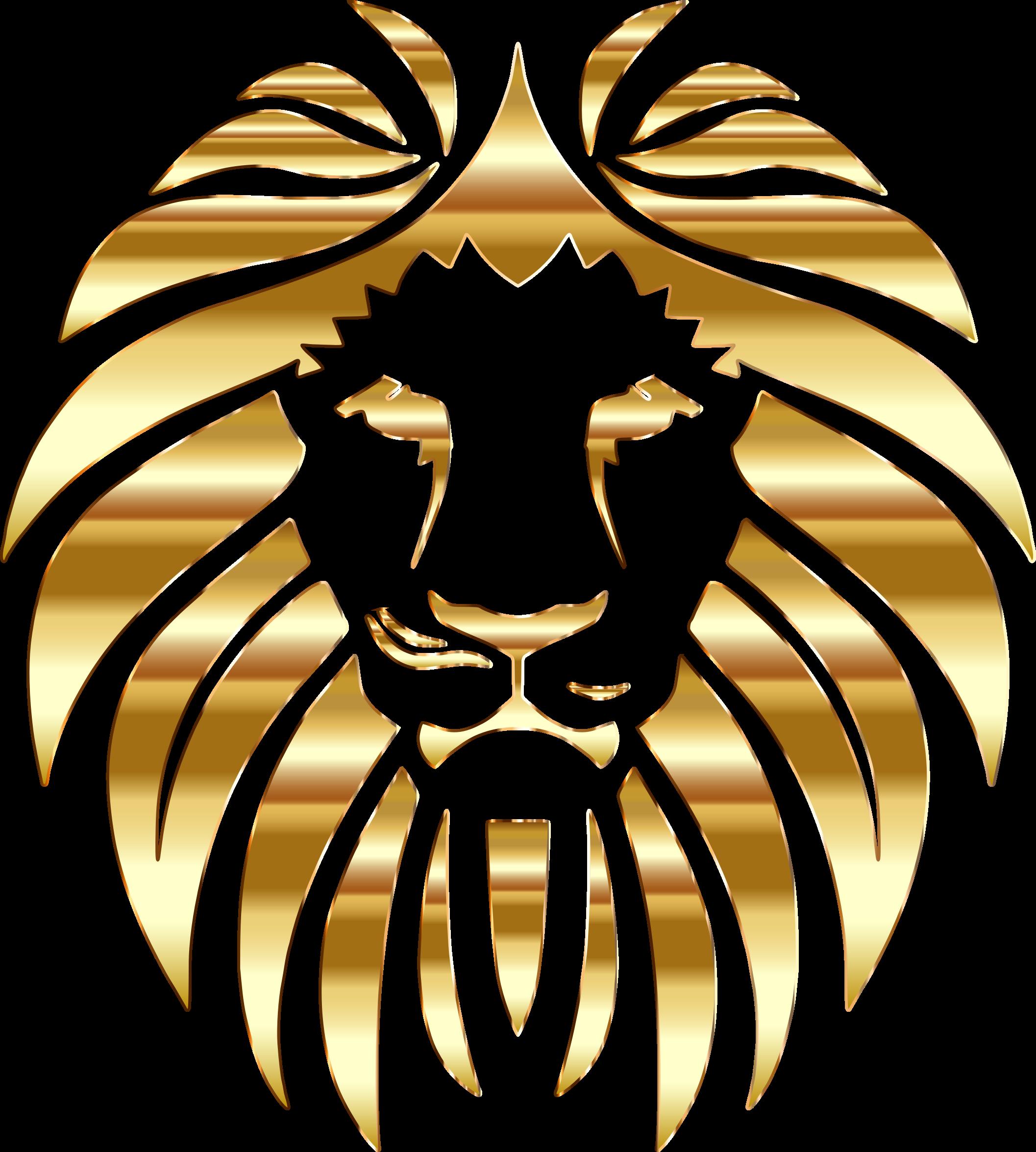 No background. Lions clipart golden lion