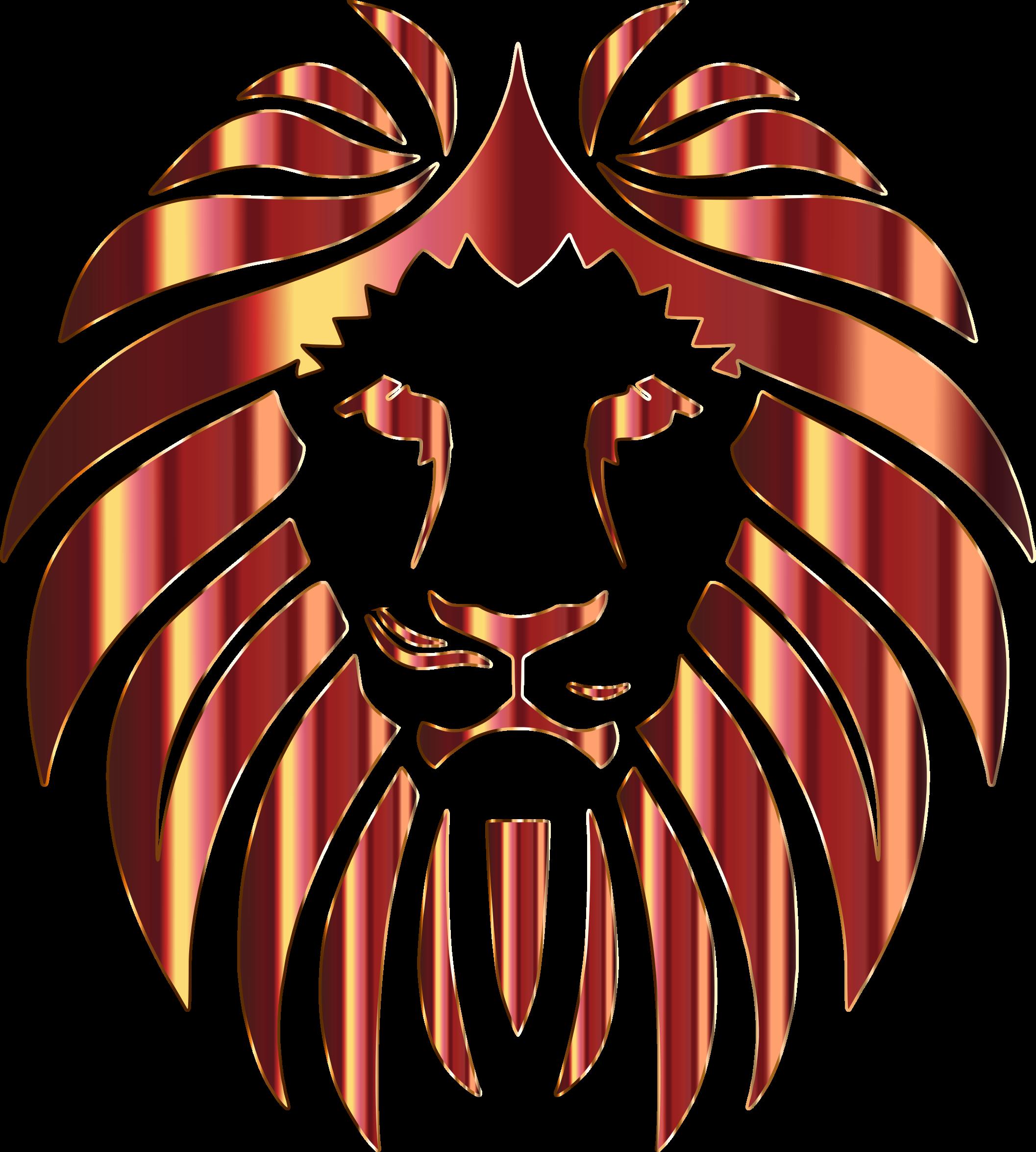 Golden no background big. Logo clipart lion