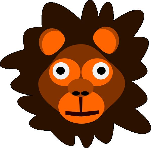 Monkeys clipart lion. Head clip art at