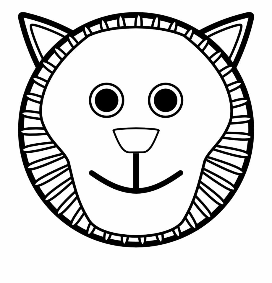 Lion clipart loin. White black clip art