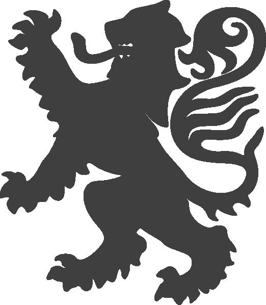 Logo clipart lion. Grey clip art at