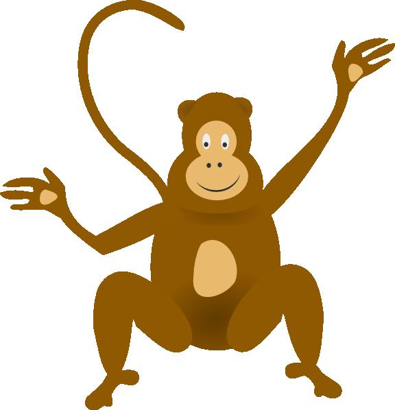 Clip art at clker. Nut clipart cartoon monkey