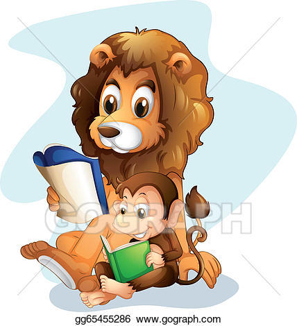 Vector stock a and. Monkey clipart lion