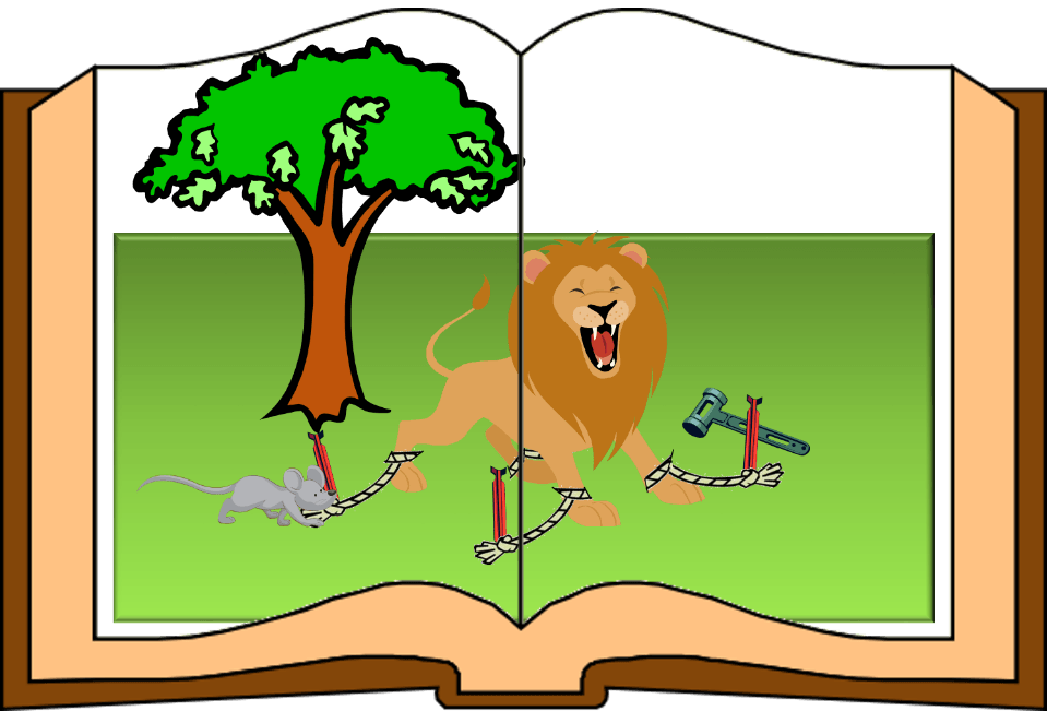 Aesop fables for all. Clipart lion mouse