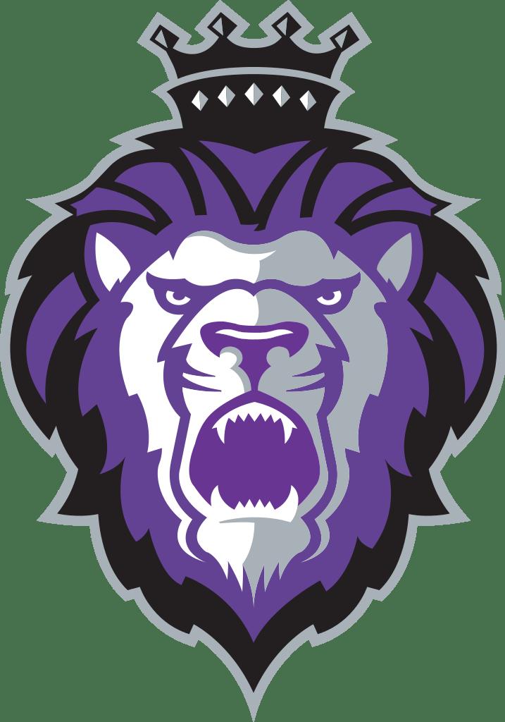 Purple clipart lion. Reading royals logo transparent