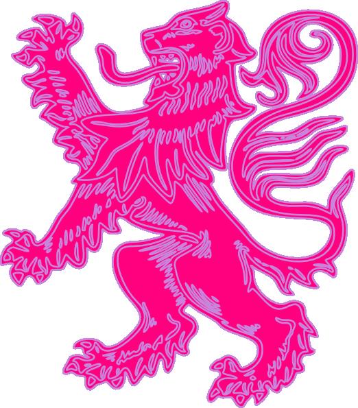 Pink clip art at. Purple clipart lion