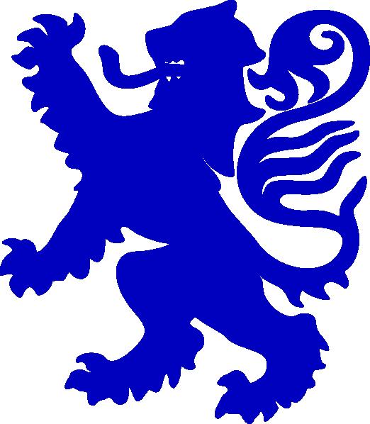Purple clipart lion. Blue clip art at