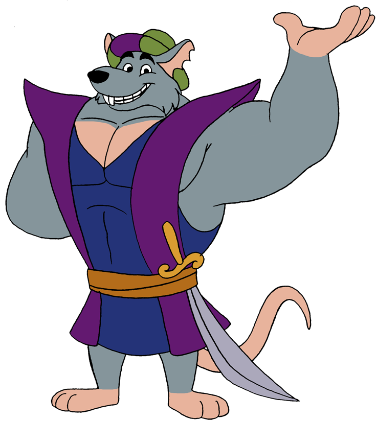 The king as one. Clipart rat comic
