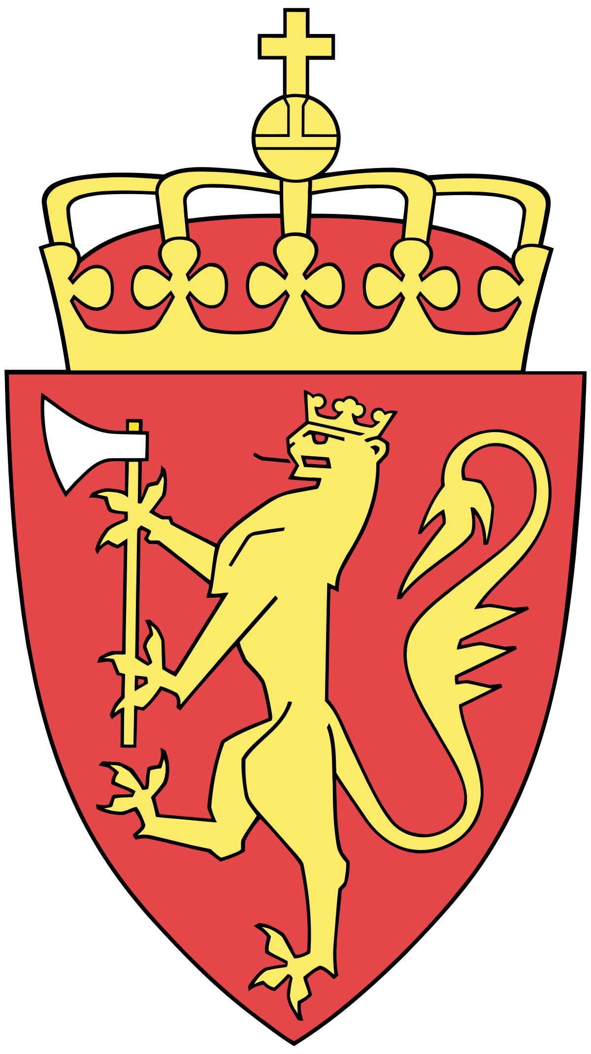 Coat of arms norway. Clipart shield viking