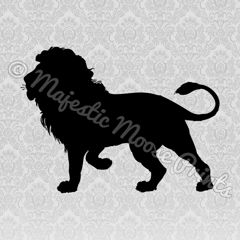 Majestic moose prints svg. Silhouette clipart lion