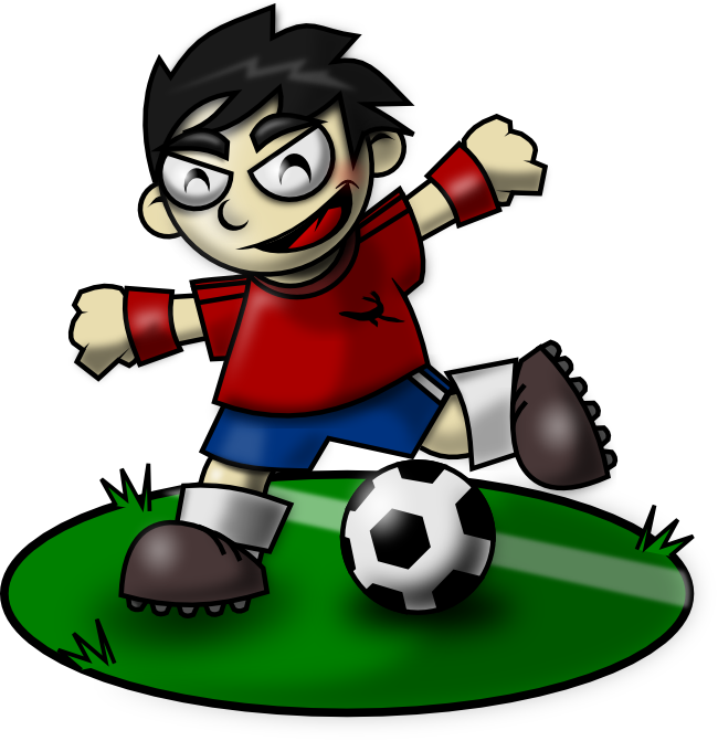 Hurt clipart soccer injury. Sporty kid mascot