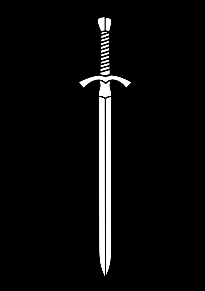 Onlinelabels clip art two. White clipart sword