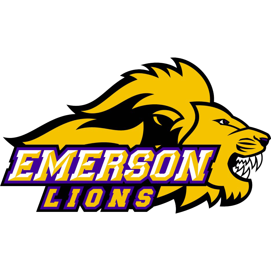 Emerson lions womens college. Clipart volleyball lion