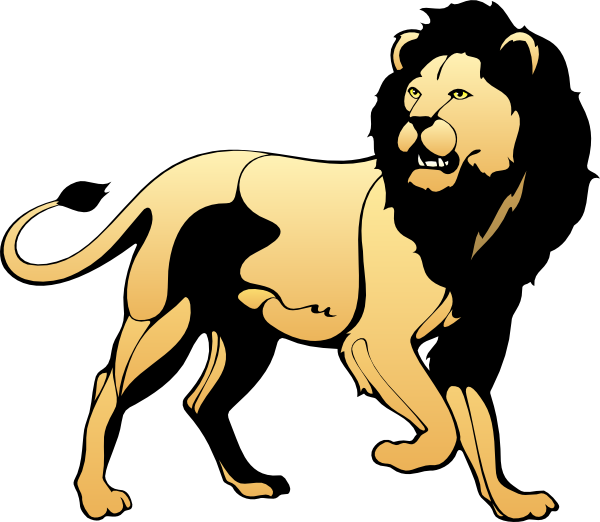 Fight clipart defensive. Lion clip art at