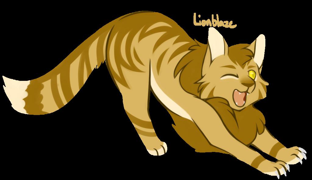 cats challenge lionblaze. Warrior clipart lion