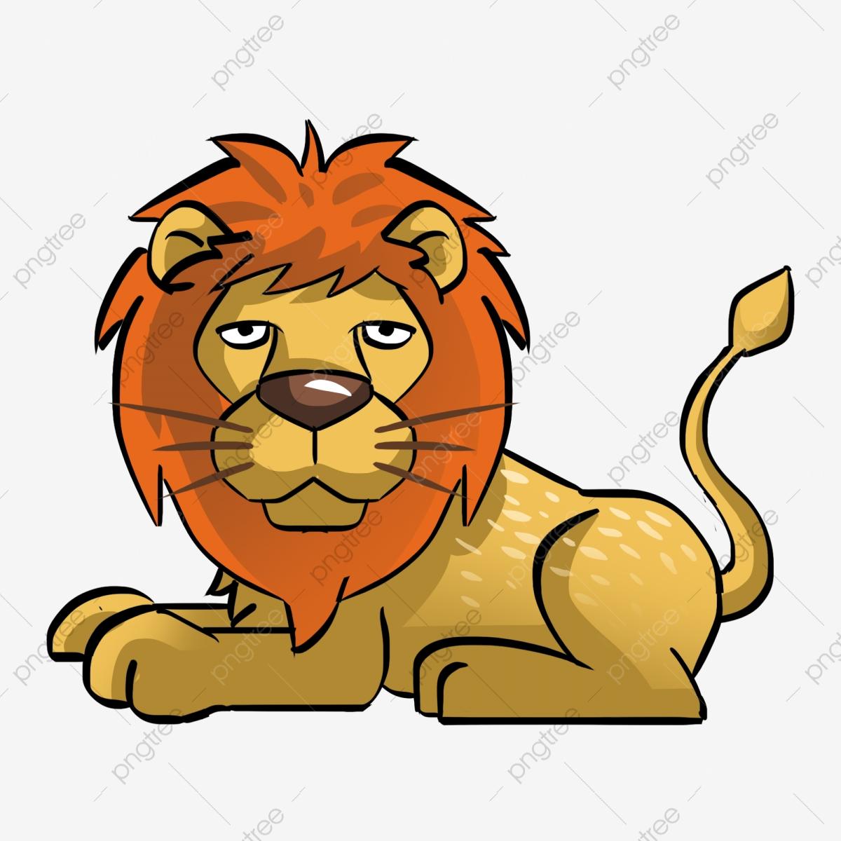 Beast illustration . Clipart lion wild animal
