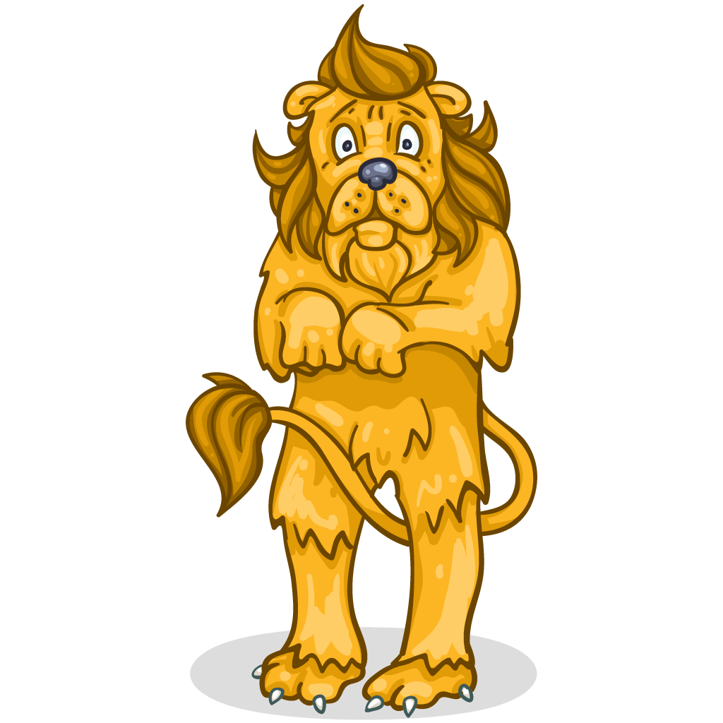 Clipart lion wizard oz. Item detail scared itembrowser