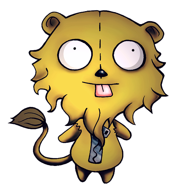 Gir the cowardly by. Clipart lion wizard oz