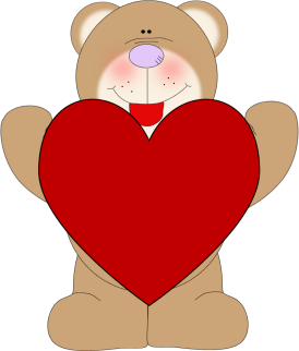 Clip art images bear. A clipart love