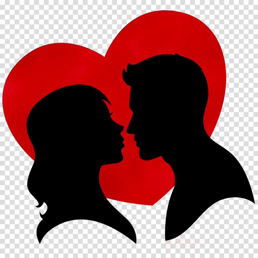 Background heart red silhouette. Clipart love