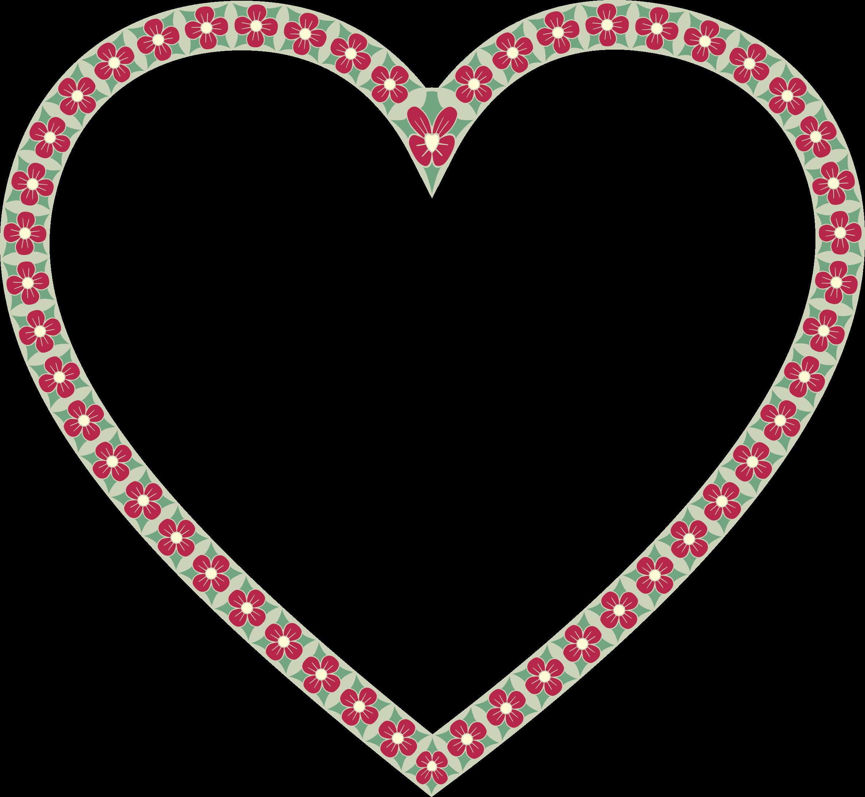 Heart clipart borders. Floral border big image