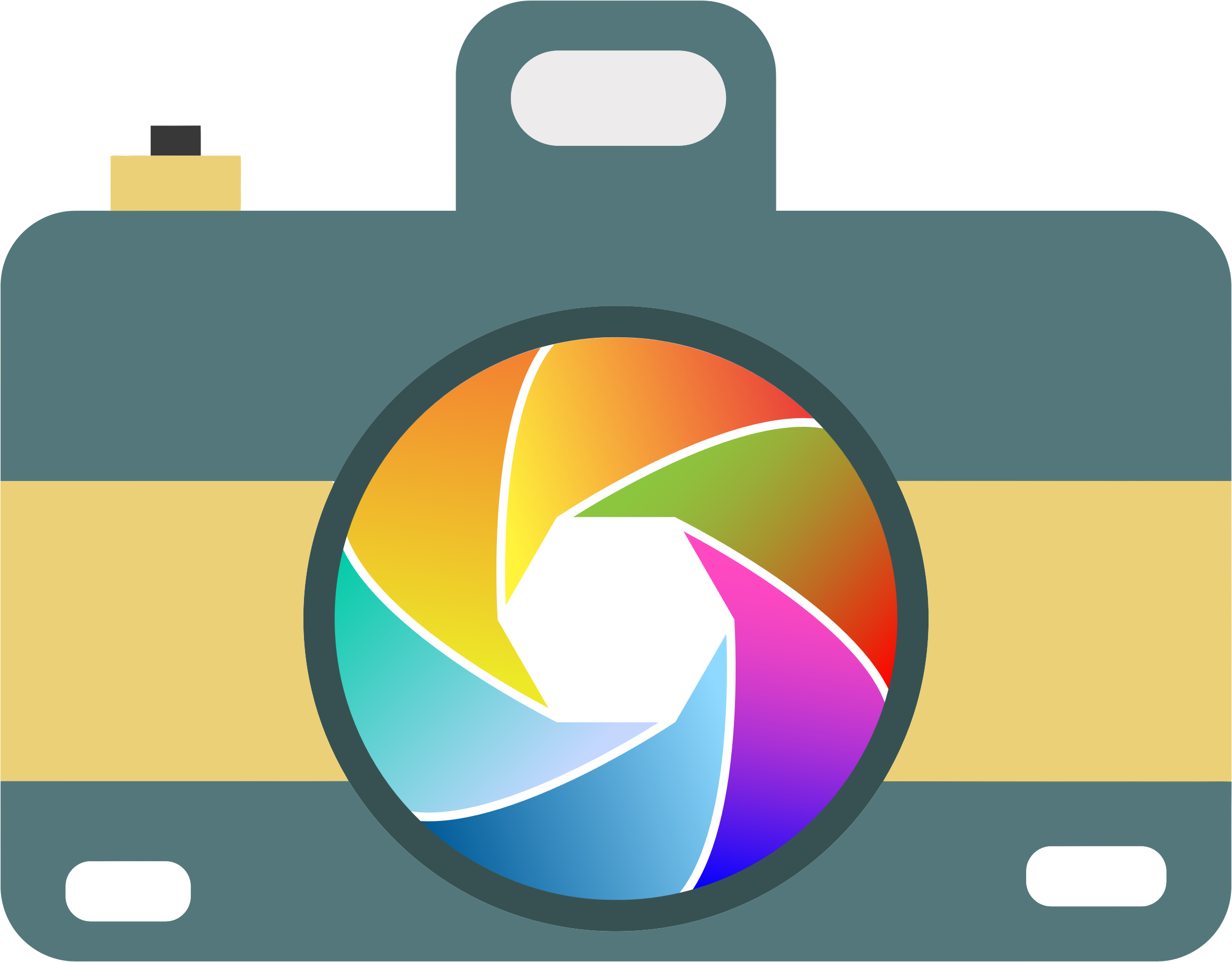 Design clipart camera. Icon with colorful shutter