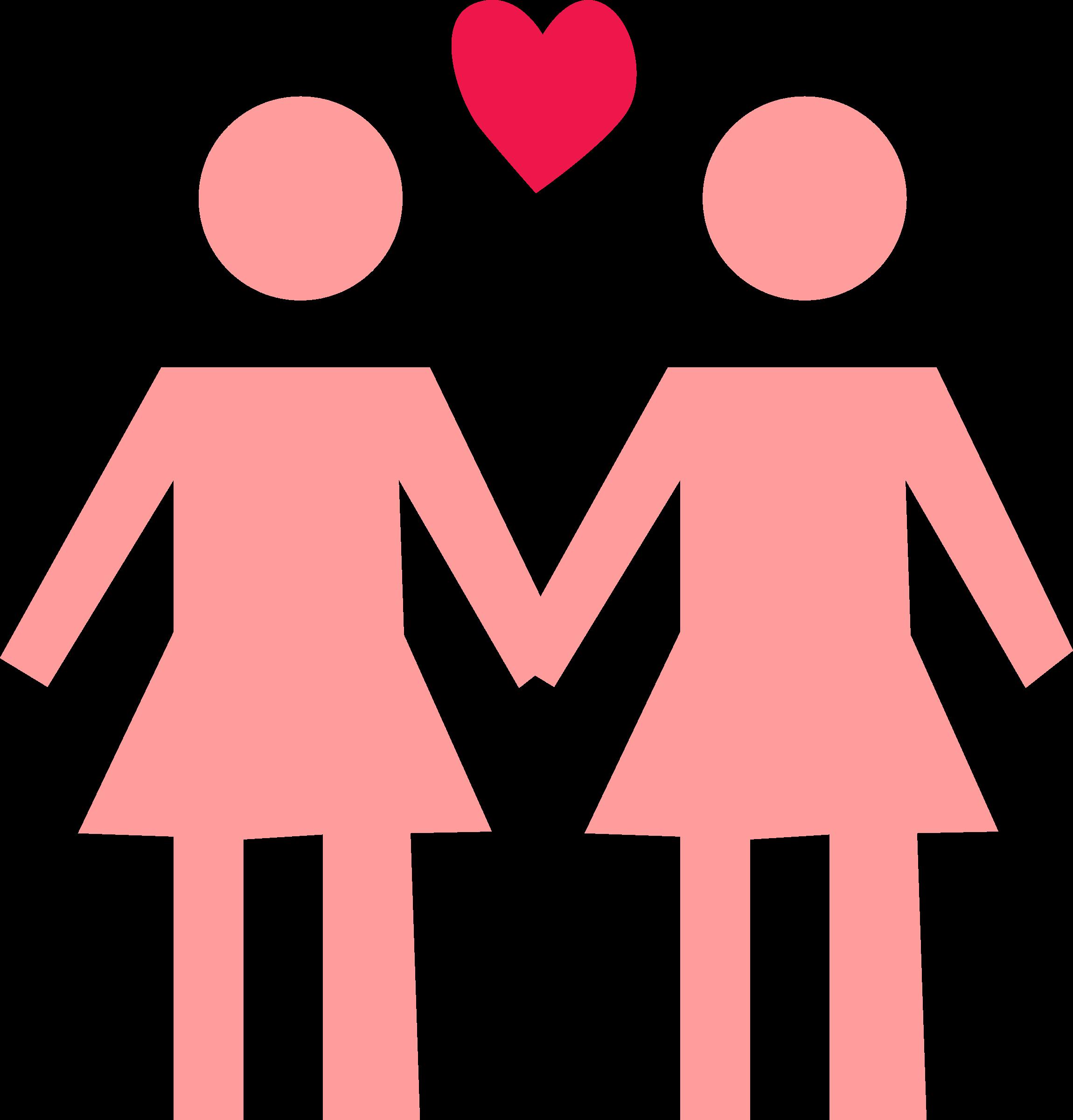 Clipart png couple. Lesbian big image