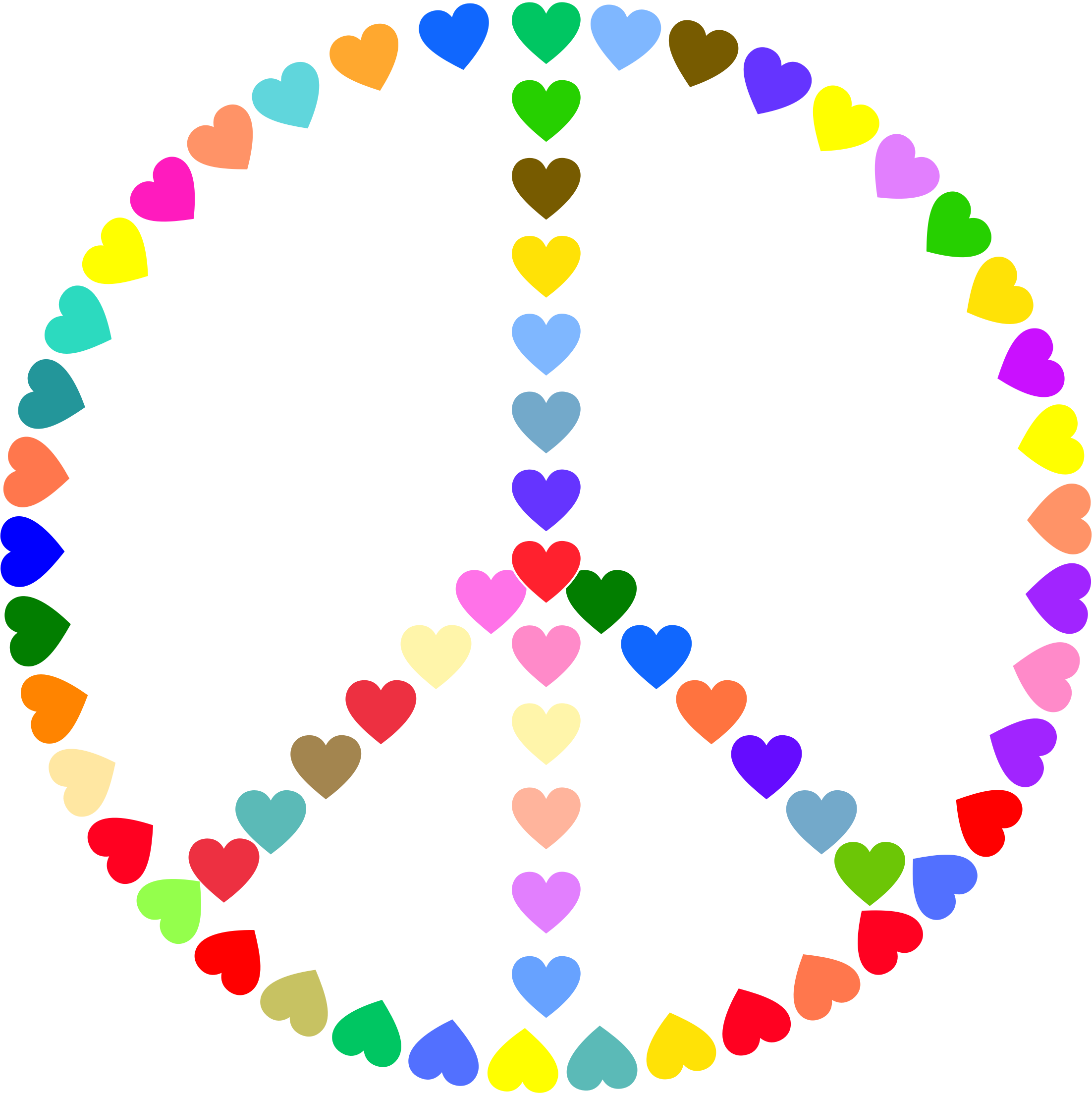 I clipart colorful. Peace sign love big