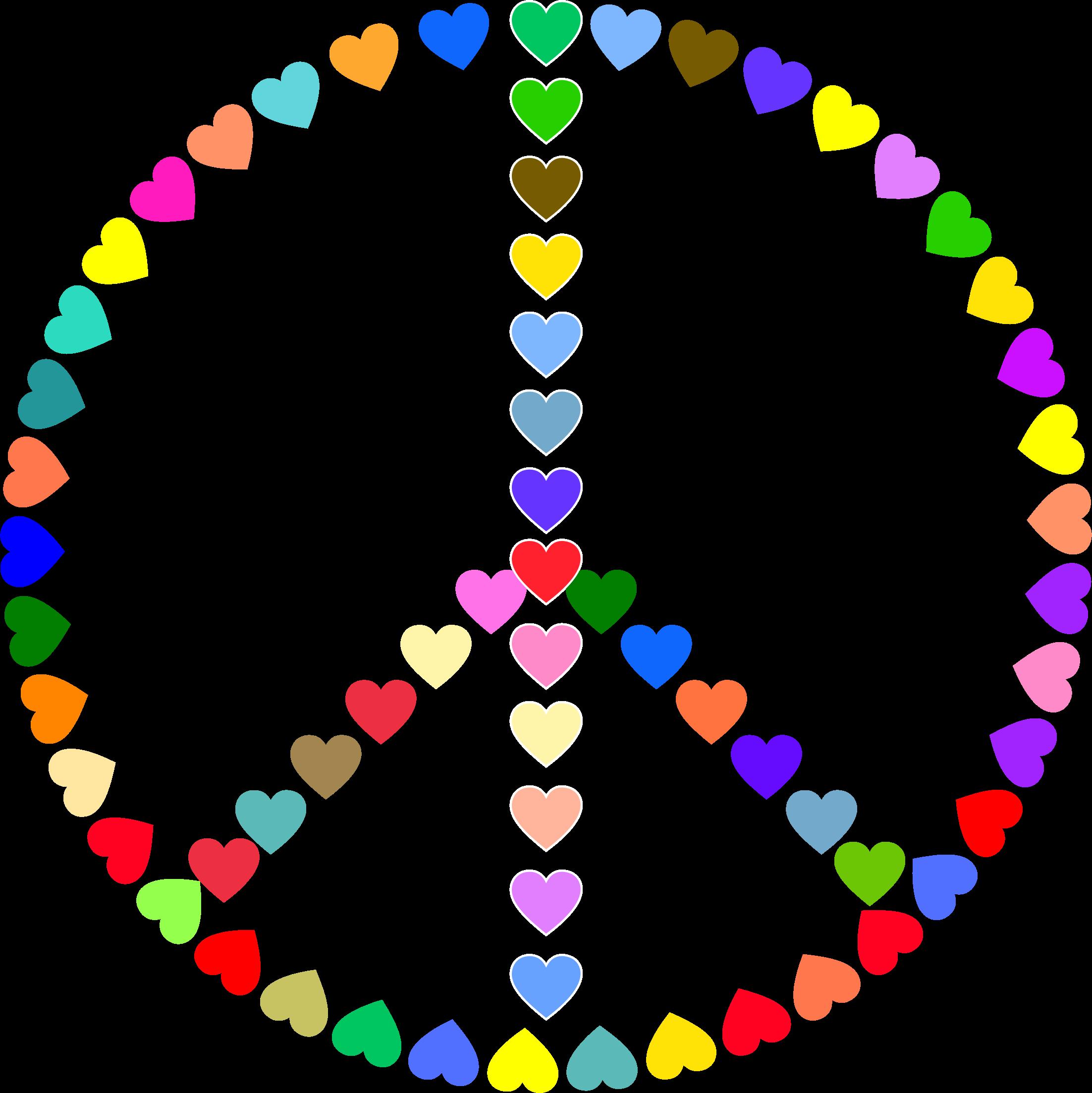 Love clipart logo. Colorful peace sign big