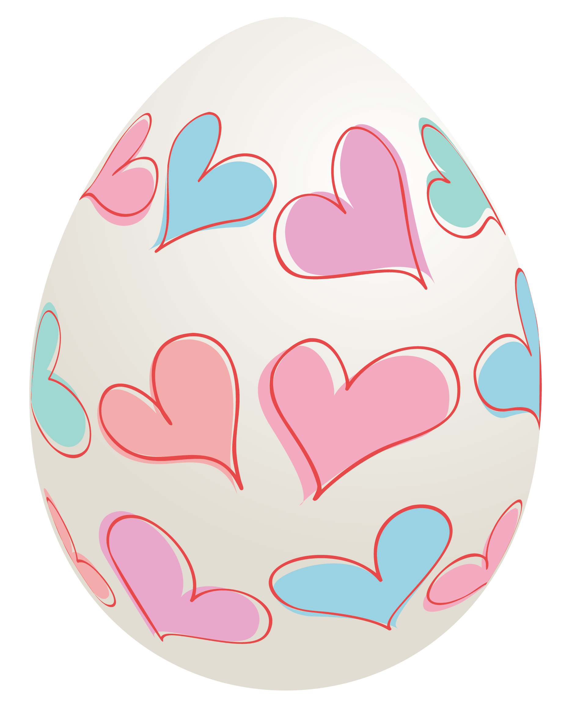 Egg with hearts png. Clipart love easter