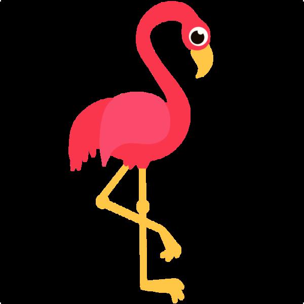 Pink free images at. Foot clipart flamingo
