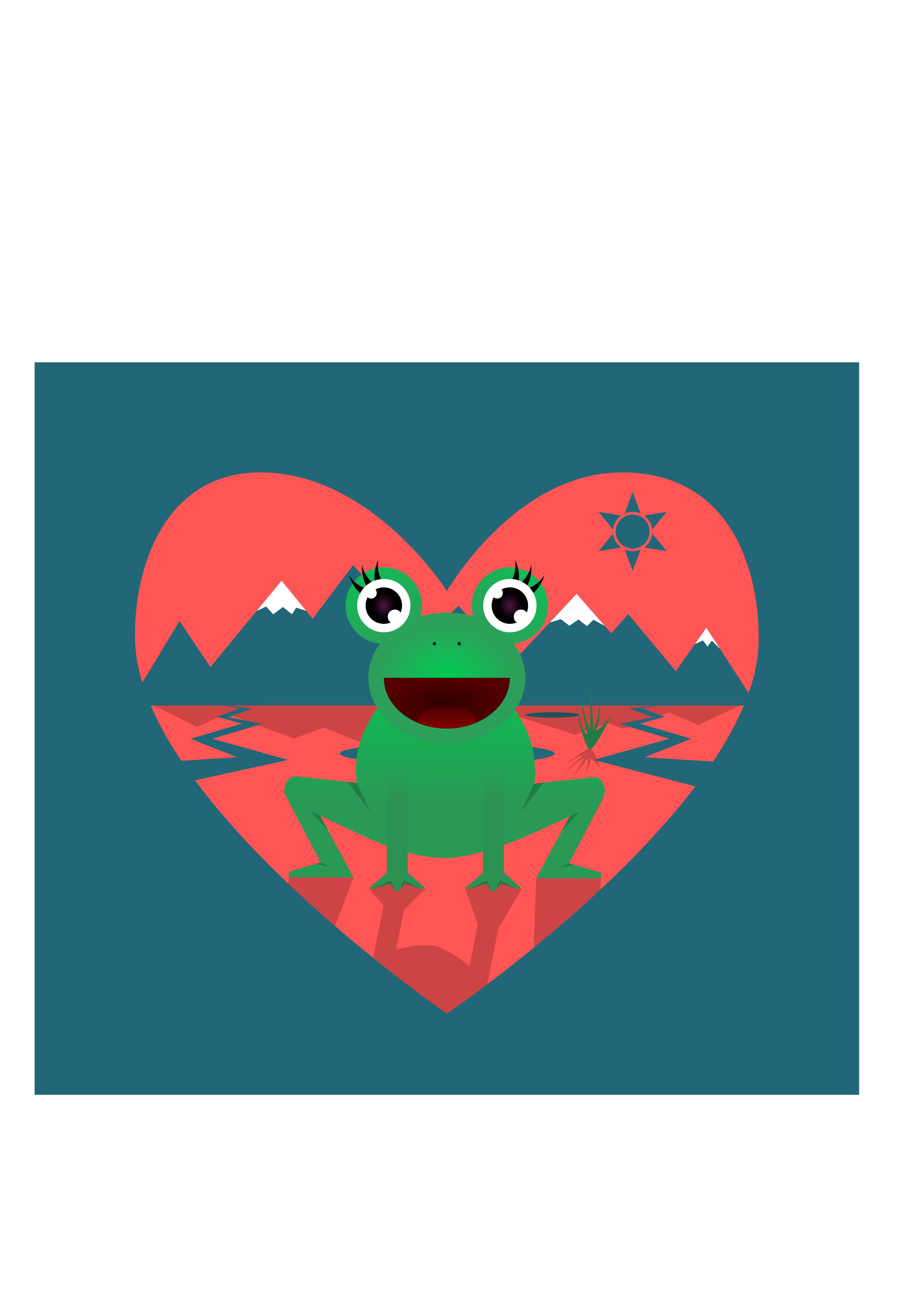Frogs clipart red. Love frog big image