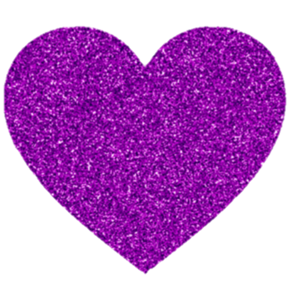 Purple violet love. Heart clipart glitter