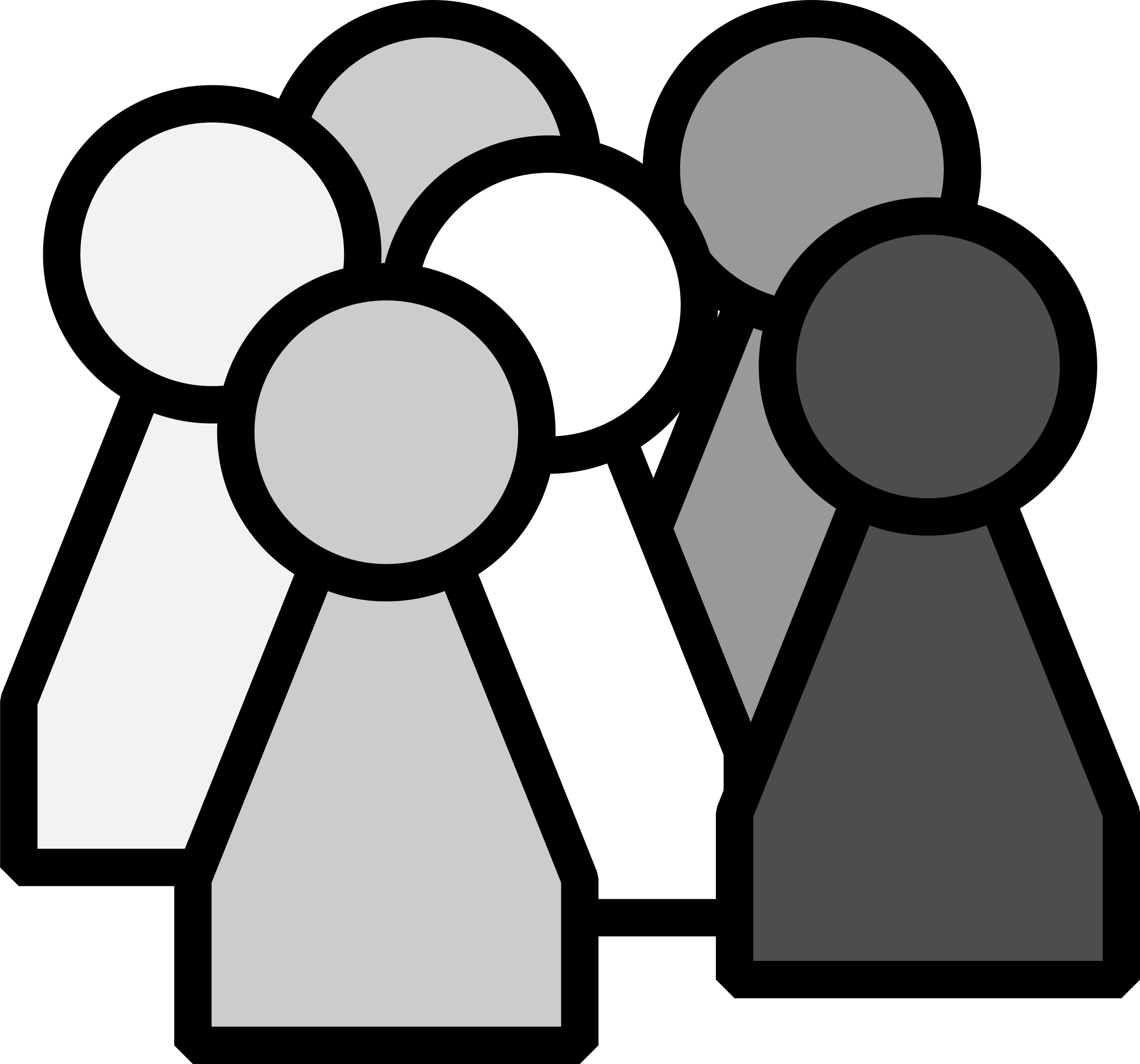 Game piece big image. Group clipart different group