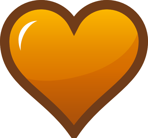 Orange heart clip art. Hearts clipart icon