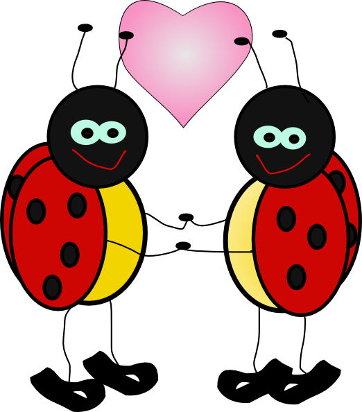 Net clipart insect net. Ladybugs in love clip