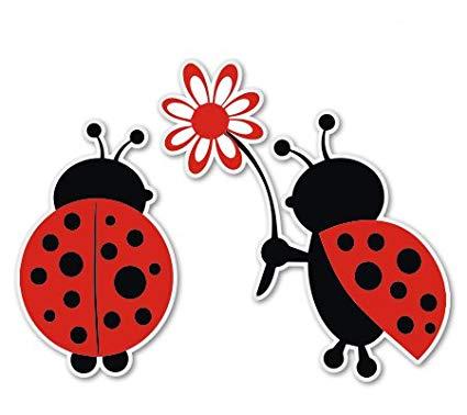Ladybug cute vinyl sticker. Ladybugs clipart love