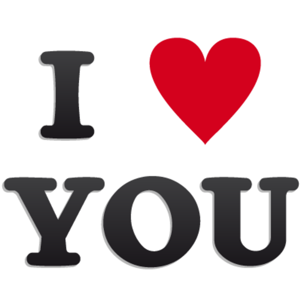 Heart i you free. Love clipart logo