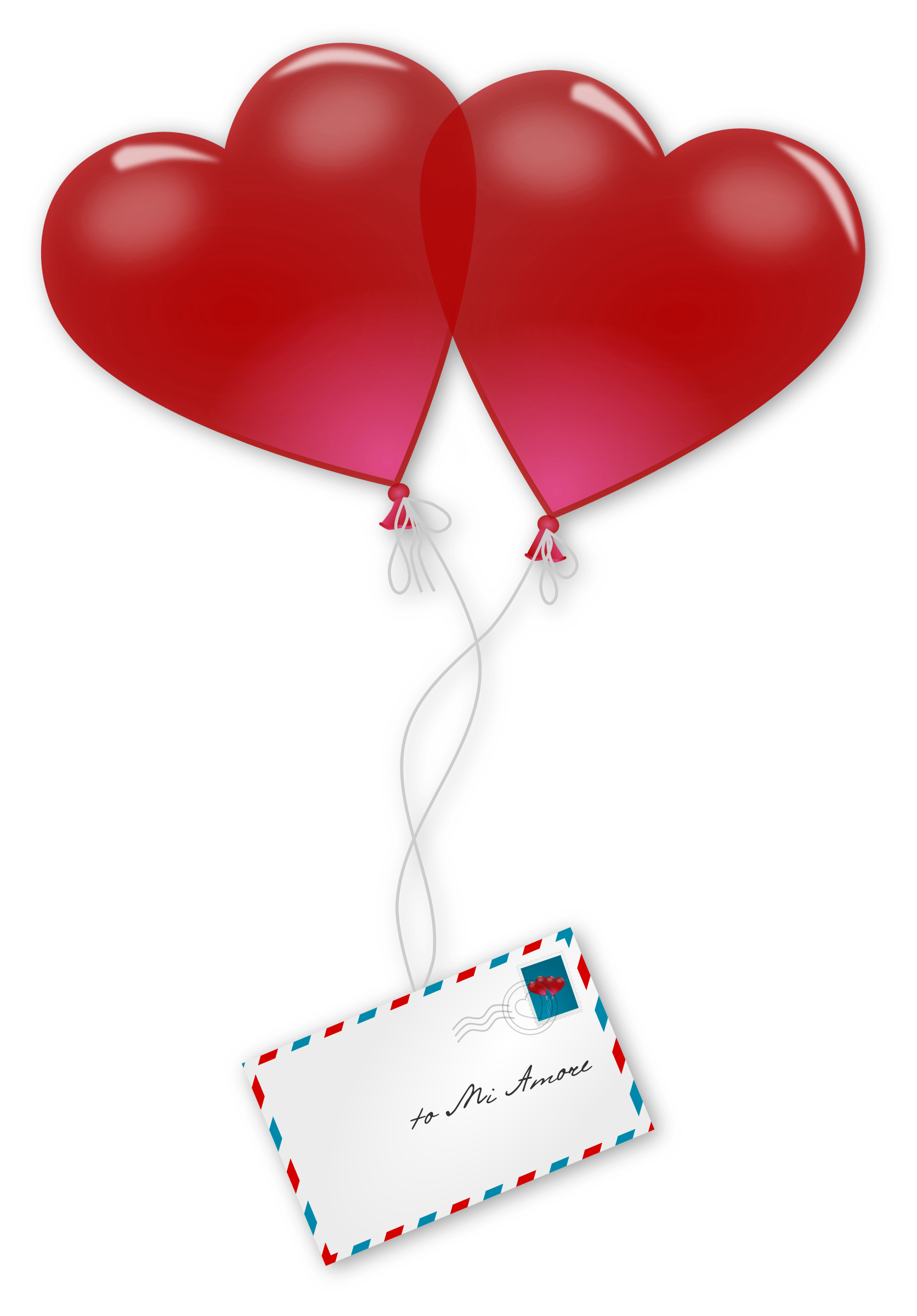 Day love is in. Mail clipart valentines