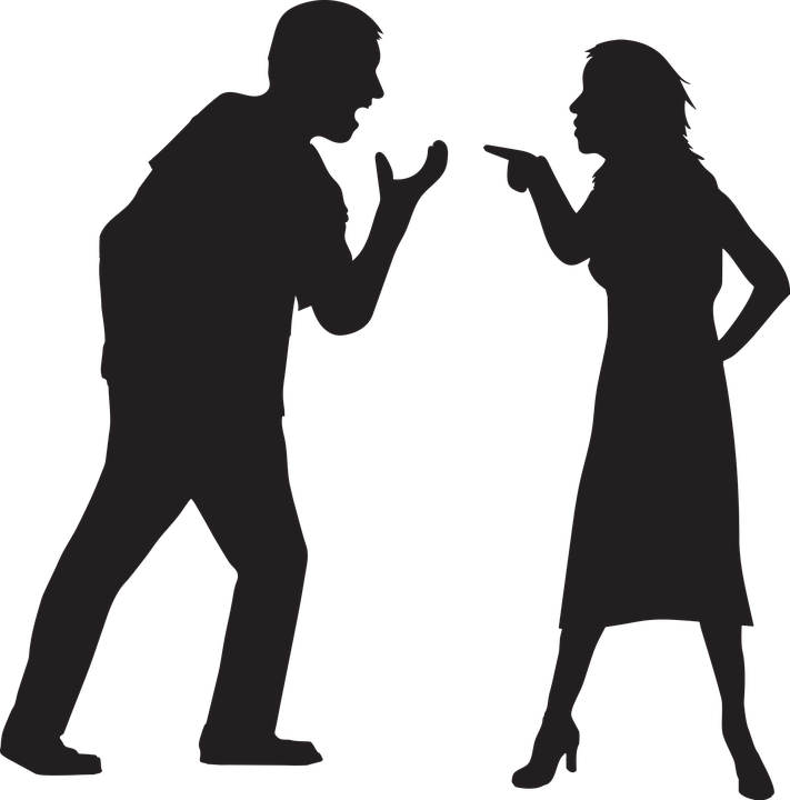 Counseling clipart two different person. Love and war how