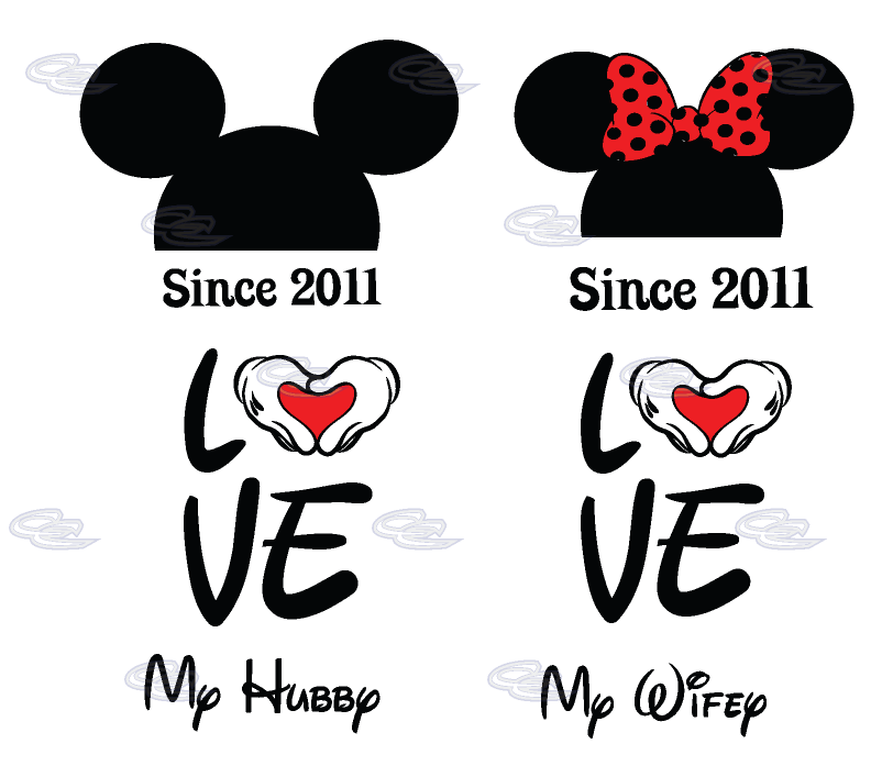 Clipart mouse couple. Love my hubby wifey