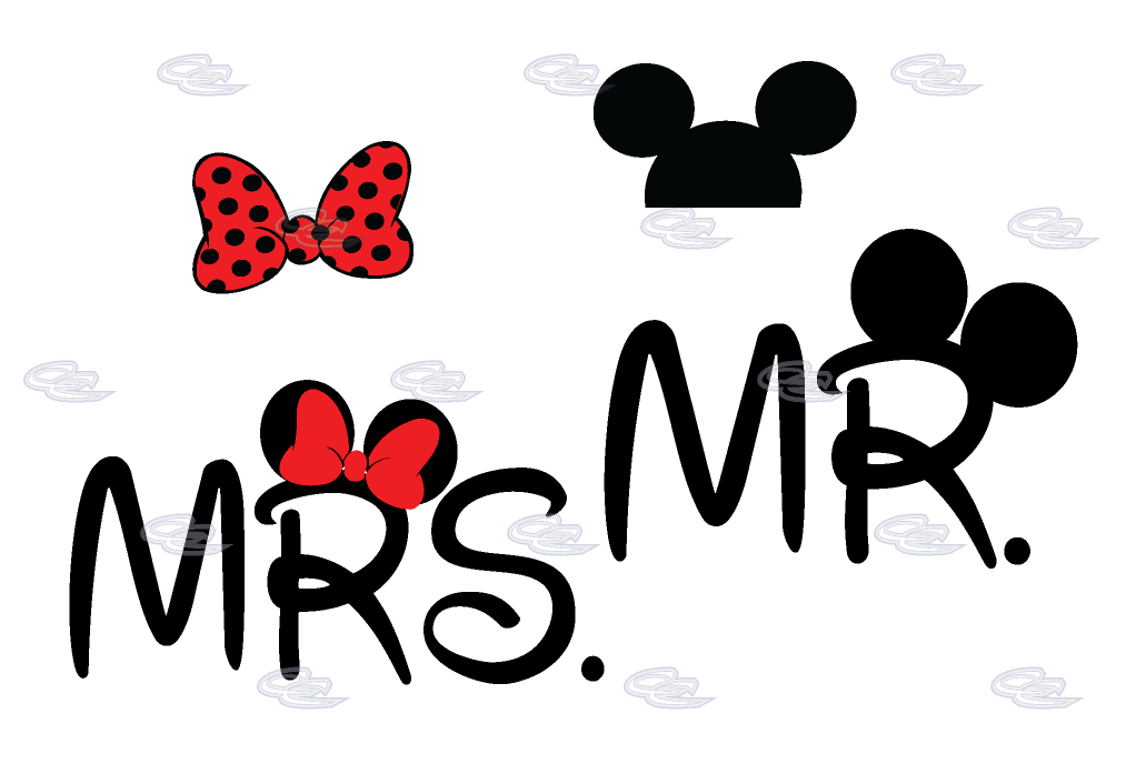Clipart mouse couple. Mr mrs minnie bow