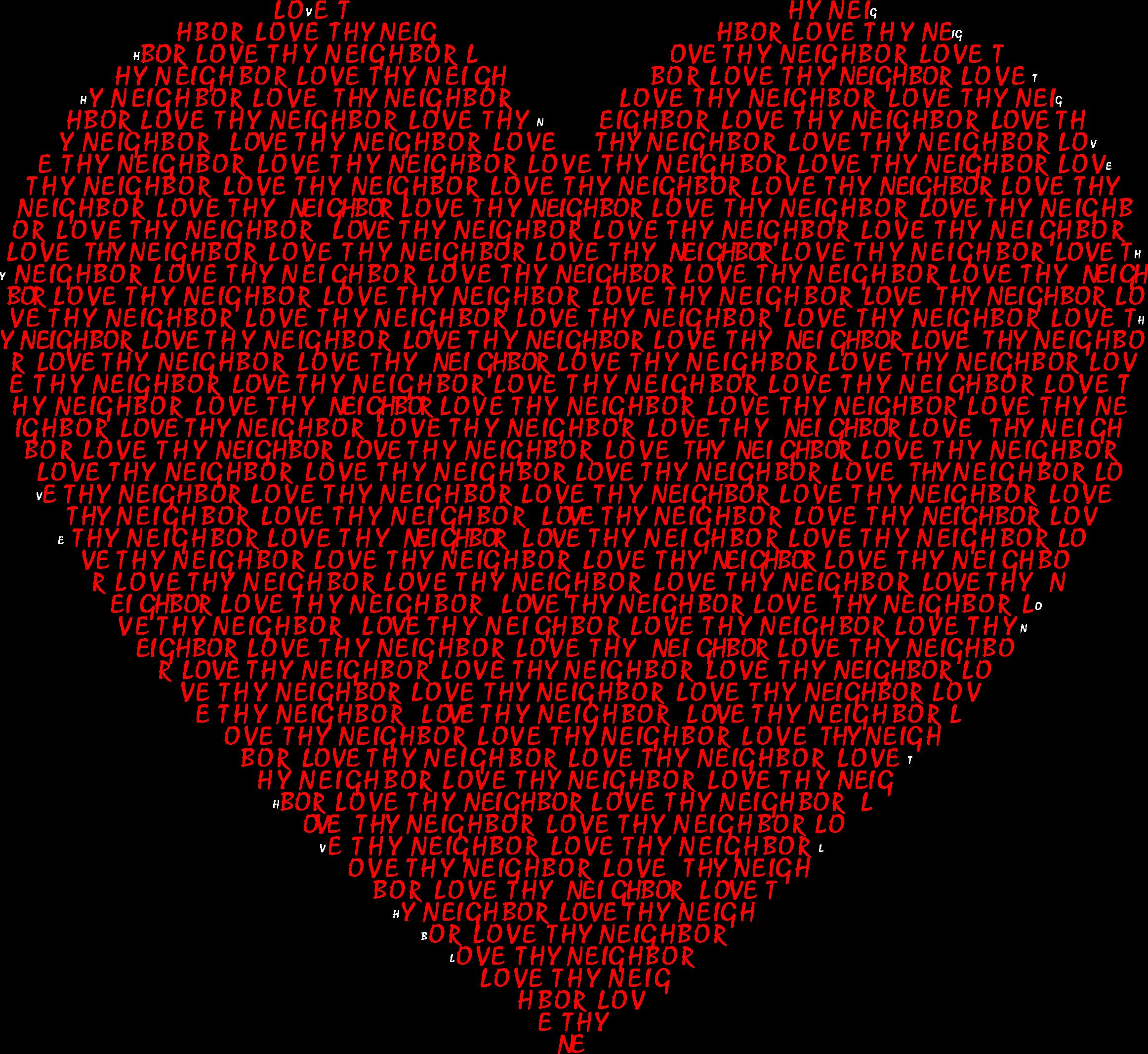 Thy heart big image. Clipart love neighbor