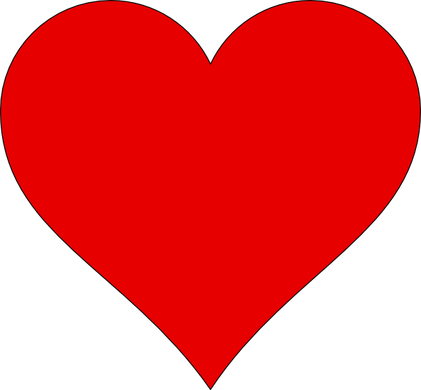 Outline clip art at. Heat clipart 7 heart