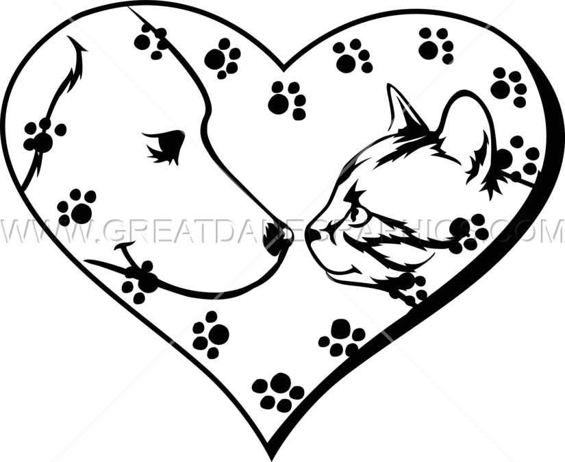 Pet clipart heart. I pets production ready
