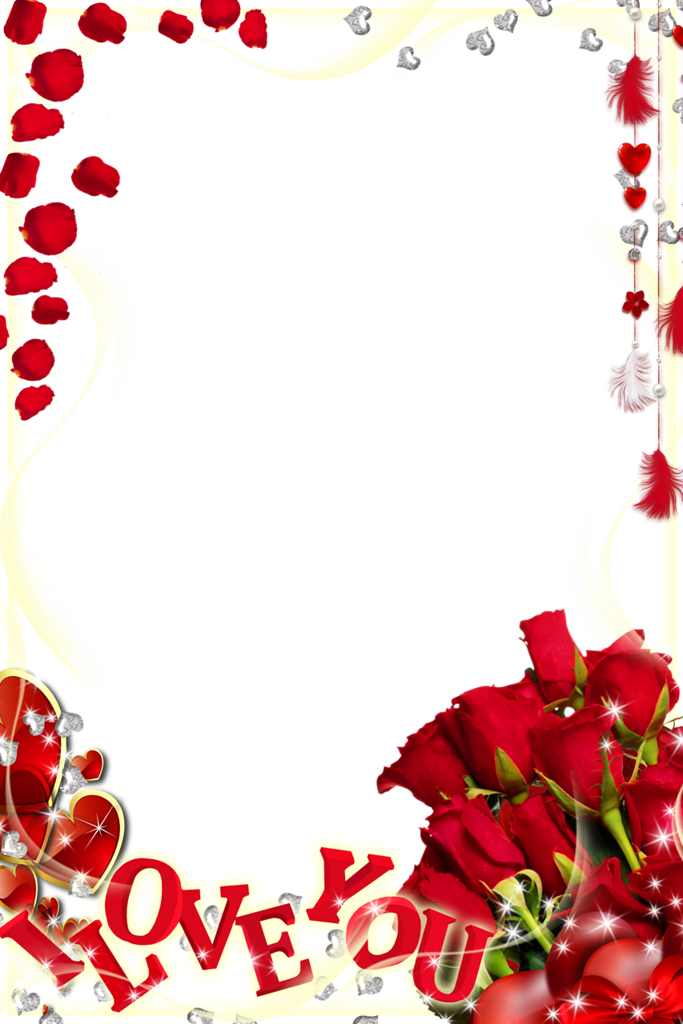 Love frame png. Cute transparent photo with