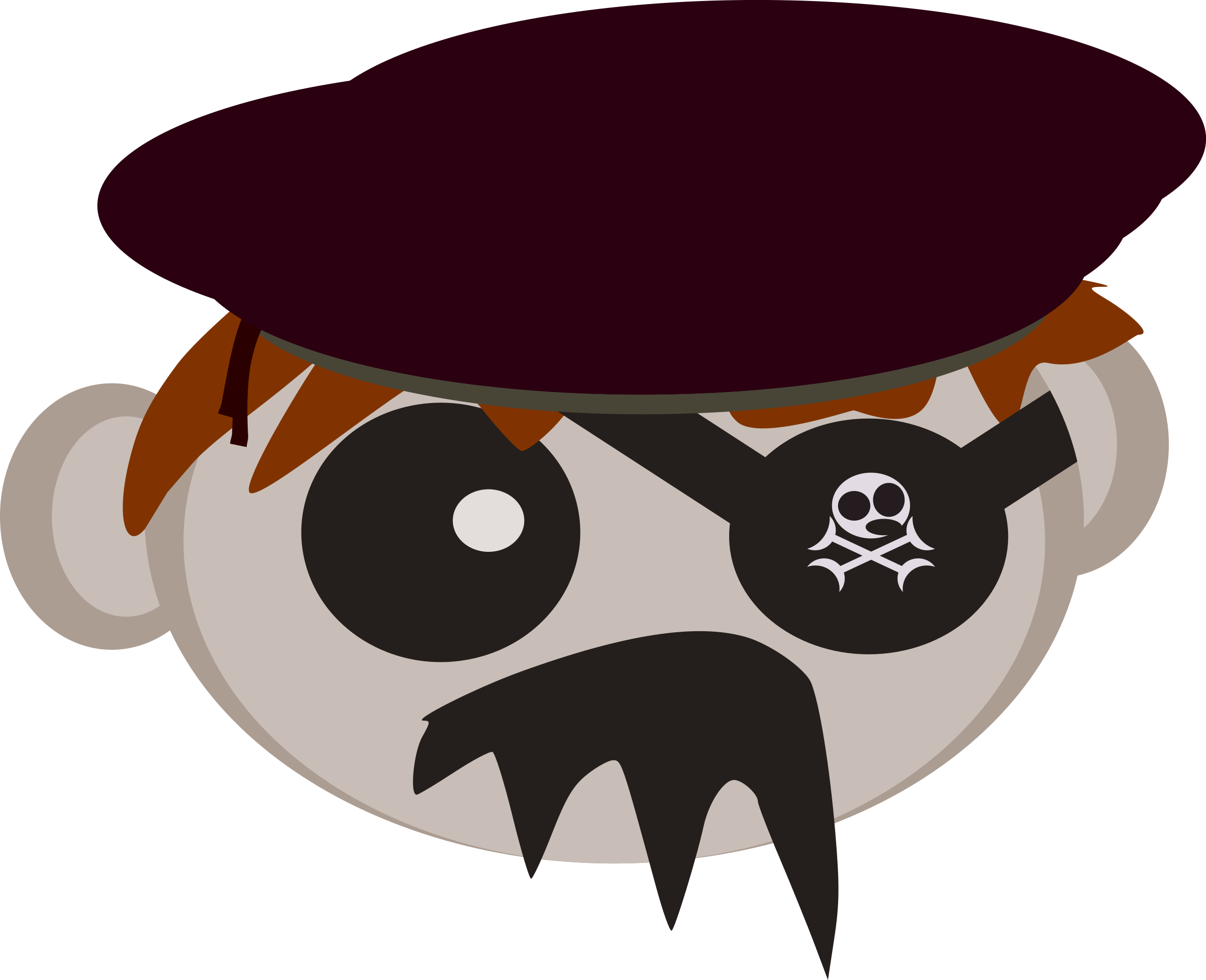 Roll big image png. Pirate clipart crab