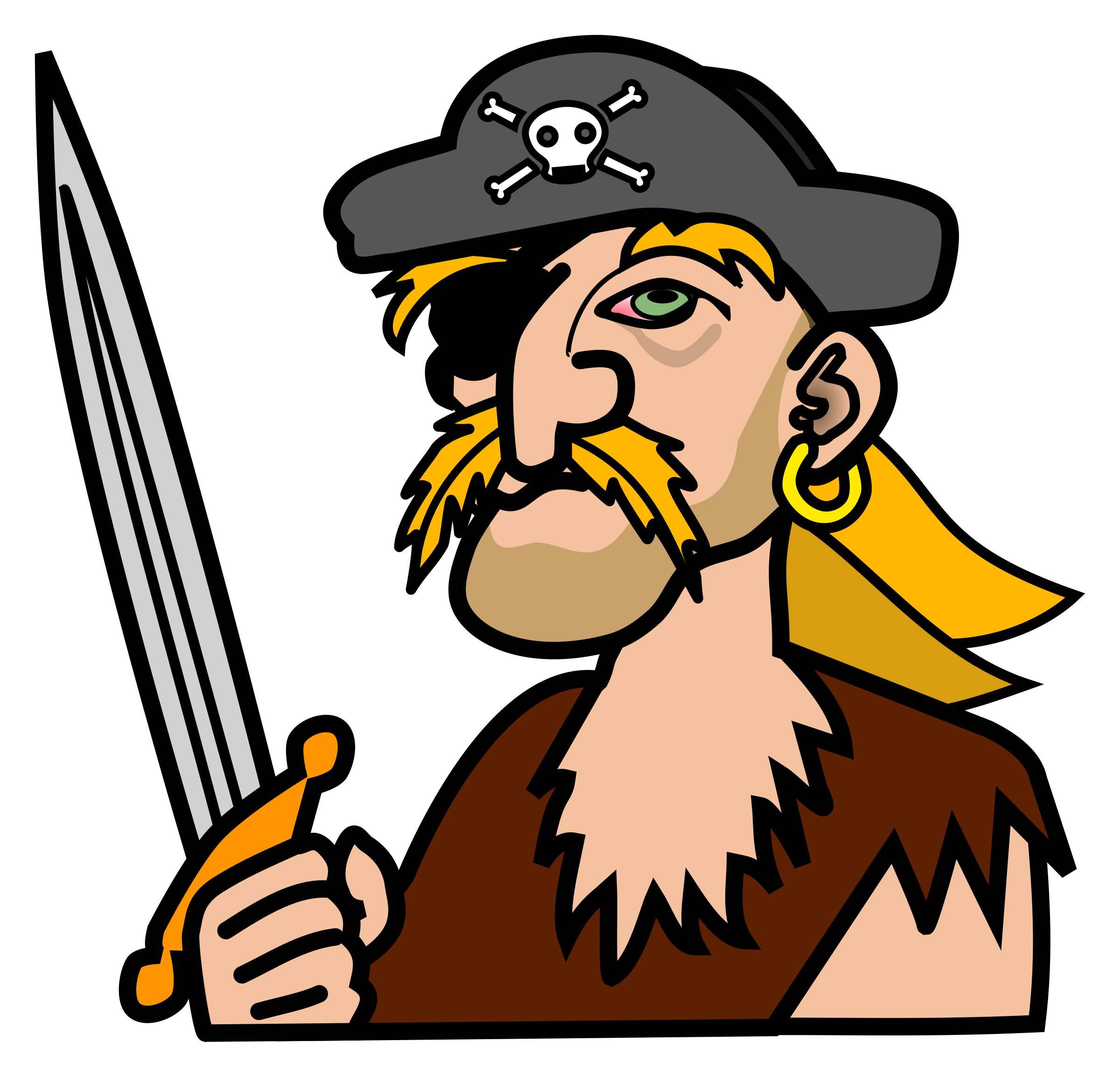 Coloured big image png. Pirate clipart pirate hat