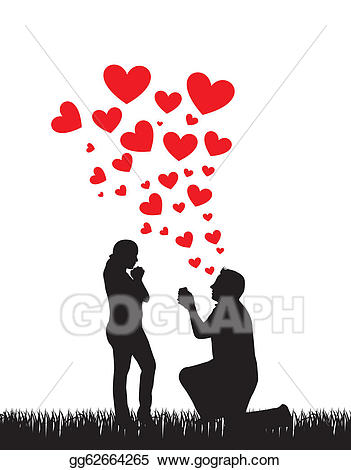 Eps illustration wedding vector. Groom clipart love proposal